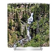 Waterfall On Lava Creek 2 Shower Curtain