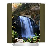Waterfall On The Cliff Edge Shower Curtain