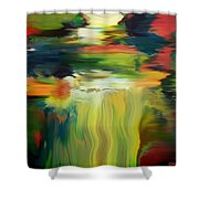 Waterfall On The Krka River Shower Curtain