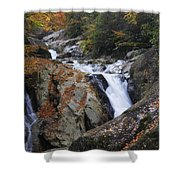Waterfall On West Fork French Broad River Shower Curtain