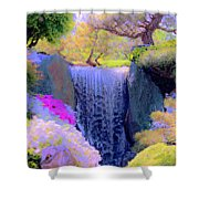 Waterfall Spring Colors Shower Curtain