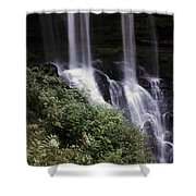 Waterfall Wildflowers Shower Curtain