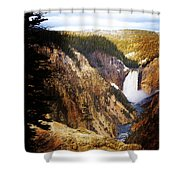 Waterfall Yellowstone 2 Shower Curtain