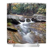 Waterfalls At Roaring River Stone Mountain Shower Curtain