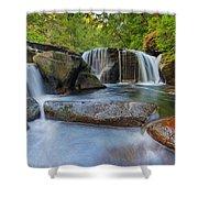 Waterfalls At Sweet Creek Falls Trail Shower Curtain
