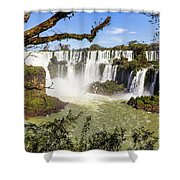 Waterfalls In Frame Shower Curtain