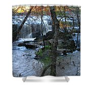 Waterfalls In Morning Shower Curtain