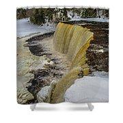 Waterfalls Upper Tahquamenon -6049 Pure Michigan Shower Curtain