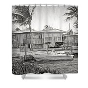 Waterfront Cottages At Parmer's Resort In Keys Shower Curtain