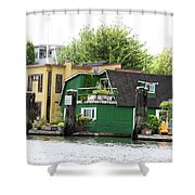 Waterfront Houses Shower Curtain