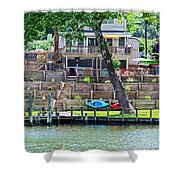 Waterfront Landscaping Shower Curtain