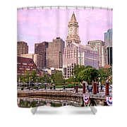 Waterfront Park Pink Shower Curtain by Susan Cole Kelly