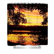 Waterfront Spectacular Sunset Shower Curtain