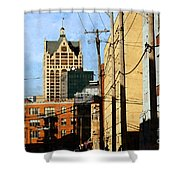 Waterfront Stop Shower Curtain