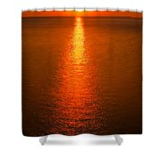 Waterfront Sunrise Shower Curtain