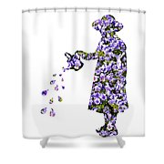 Watering Flowers Shower Curtain
