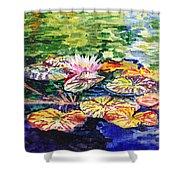 Waterlilies Impressionism Shower Curtain
