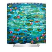 Waterlillies Shower Curtain