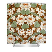 Waterlily Ogee Shower Curtain