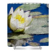 Waterlily Reflections Shower Curtain