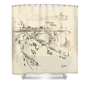 Waterloo Bridge Shower Curtain