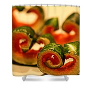 Watermelon Curls Still Life Shower Curtain