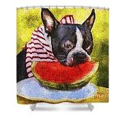 Watermelon Lunch Shower Curtain