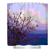 Watermelon Sky Shower Curtain by Barbara Schultheis