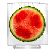 Watermelon Slice Shower Curtain