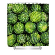 Watermelons At The Market Shower Curtain