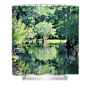 Waterscape #1 Hillsborough River Shower Curtain