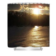 Watershed Sunset Shower Curtain