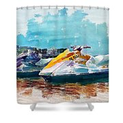 Waterskis  Shower Curtain