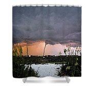 Waterspout Over Pass A Grill Shower Curtain