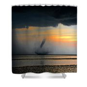 Waterspout Panoramic Shower Curtain