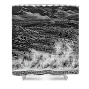 Waterspouts On Viedma Lake - Patagonia Shower Curtain