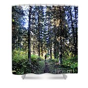 Waterton Valley Trail Detail - Glacier National Park Shower Curtain