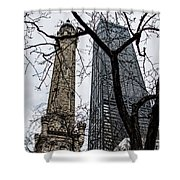 Watertower Chicago Shower Curtain