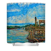 Waterway Near Pawleys Island Shower Curtain