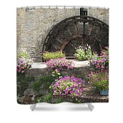 Waterwheel In Bayeux Shower Curtain