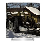 Waterwheel With Snow Shower Curtain
