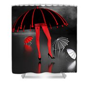 Waterworld At Night Shower Curtain