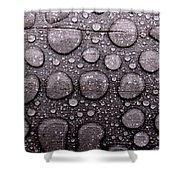 Watery Beads Shower Curtain