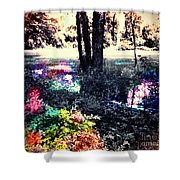 Watery Oasis Shower Curtain