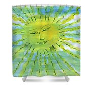 Watery Sunshine Shower Curtain