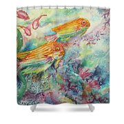 Watery World 1 Shower Curtain