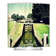 10945 Watford Locks On The Grand Union Canal Shower Curtain