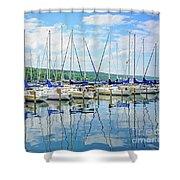 Glen Harbour Marina Shower Curtain