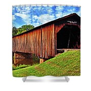 Watson Mill Covered Bridge 040 Shower Curtain