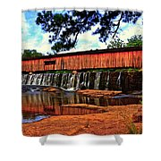 Watson Mill Covered Bridge 042 Shower Curtain
